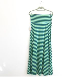 NWT LulaRoe Striped Tube Maxi Skirt Sz XS